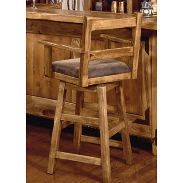 International Furniture 24 Inch Lodge Swivel Counter Stool With Arms Lacquer Bar Stools With Backs Rustic Bar Stools Wooden Swivel Bar Stools