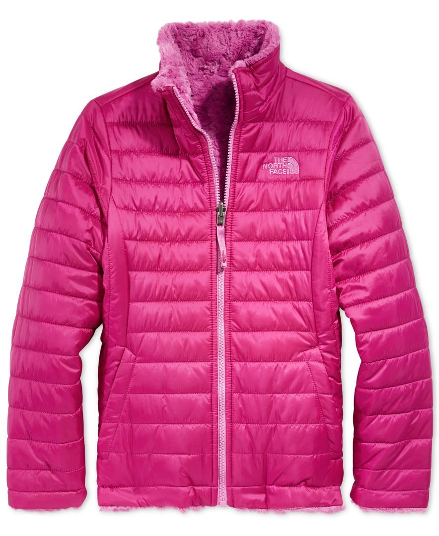 e03cc02767 The North Face Girls  or Little Girls  Reversible Mossbud Swirl Jacket
