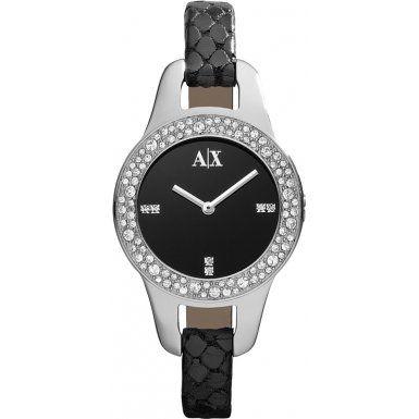 e414bd21776 Armani Exchange AX4132 Ladies Black Pipa Smart Watch