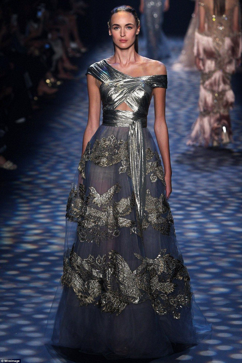 Stunning: The designers stuck to some of their favorite fabrics and techniques, using lots of tulle and luxe embroidery