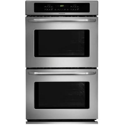 Frigidaire 27 In Double Electric Wall Oven Self Cleaning In Stainless Steel Ffet2725ps Wall Oven Electric Wall Oven Double Electric Wall Oven