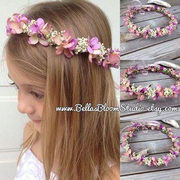 Baby Flower Crown Baby S Breath Flower Girl Toddler Flower Crown Peach Hair Wreath Toddler H Baby Flower Crown Blush Wedding Flowers Flower Crown Wedding