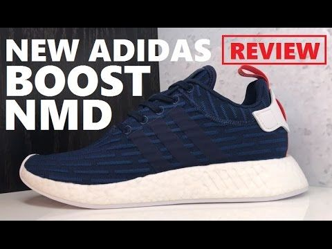 super popular 43141 e21df ... adidas originals nmd r2 primeknit boost collegiate navy sneaker review