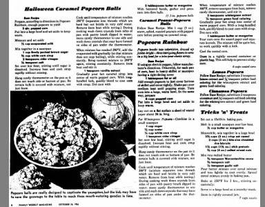 Halloween Popcorn Balls - 1954