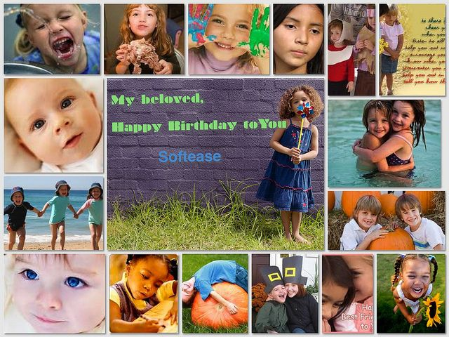 happy birthday collage maker my lovely baby happy birthday to you love you