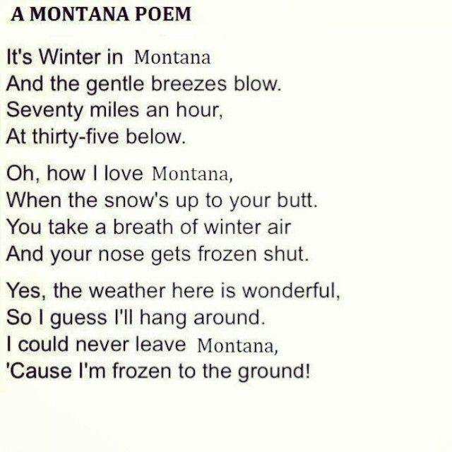 A Montana Poem