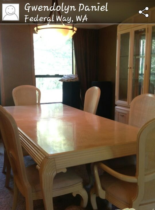 Beautiful Formal Dinette Set Paid 2500 00 Selling For A Steel