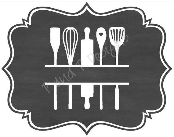Split Kitchen Utensils Svg Png Instant Download By Juspeachy