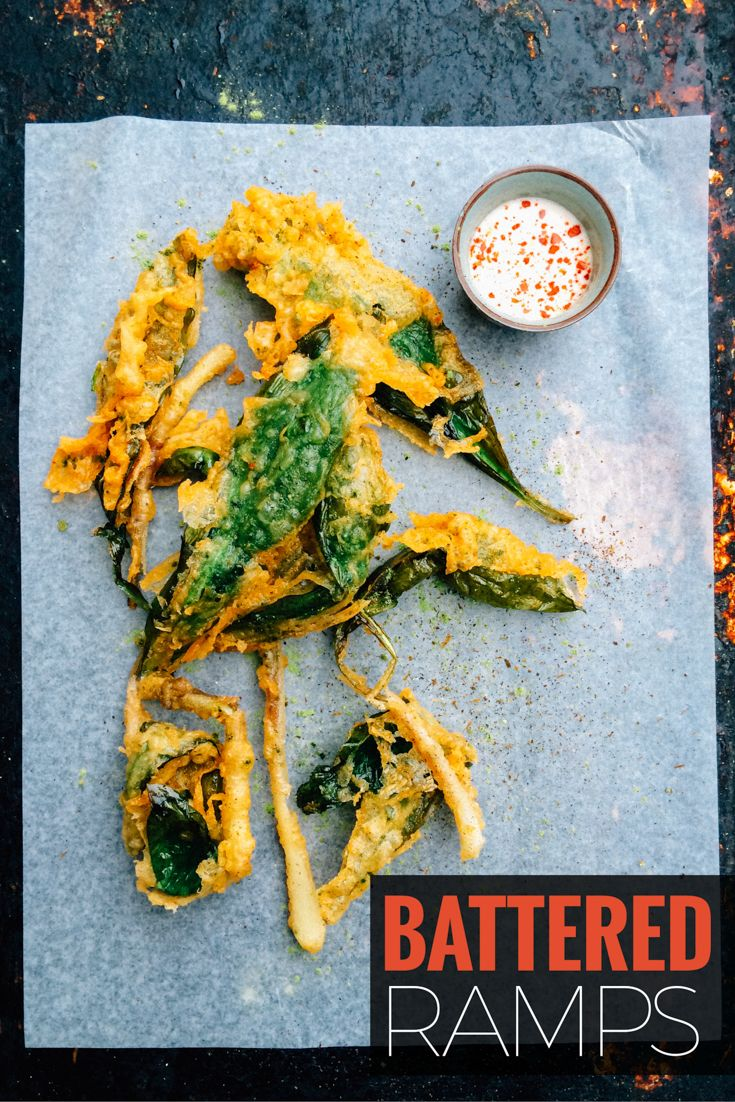 This beer battered ramp recipe features wild leeks, also known as wild garlic. Foraged in the Spring this recipe features them as the ultimate onion ring with great texture and flavour. ~ http://www.baconismagic.ca