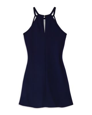 Sally Miller Girls' The Peggy Fit-and-Flare Dress - Big Kid - Navy #sallymiller