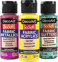 Decoart Sosoft Fabric Paint In 2020 Fabric Paint Art Painting Supplies Painting