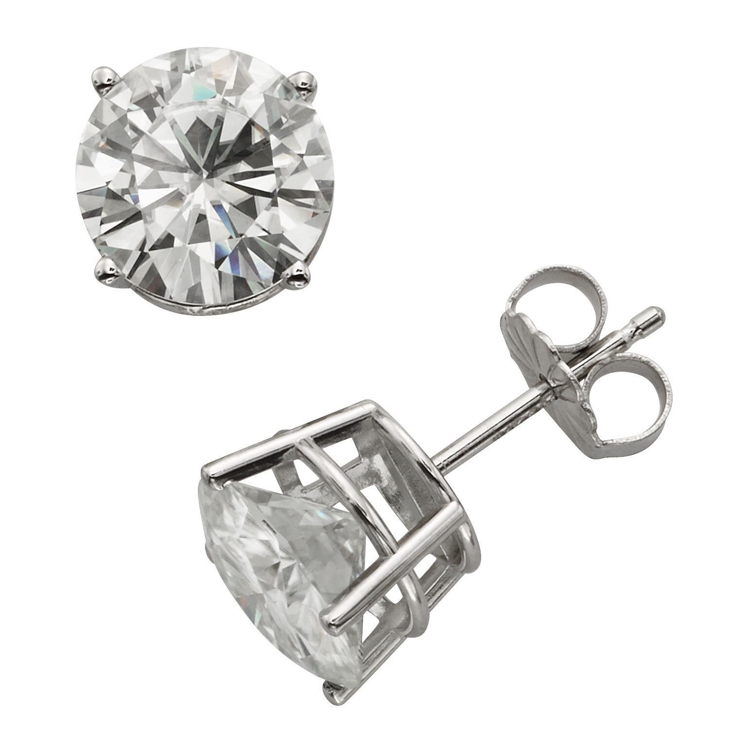 women jewelry dp silver com lab stud back plated platinum for grown amazon push moissanite earrings