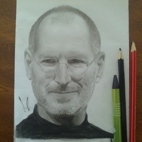 Portrait of steve jobs by on stars portraits the biggest online gallery for celebrity portraits