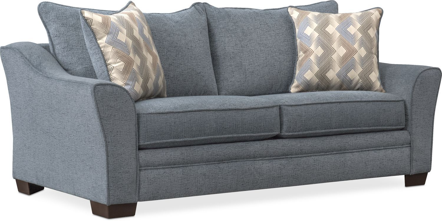 Trevor Full Innerspring Sleeper Loveseat - Blue in 2019
