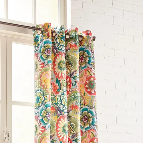 Emmie Floral Multifloral Grommet Curtain With Images Curtains Grommet Curtains Cool Curtains