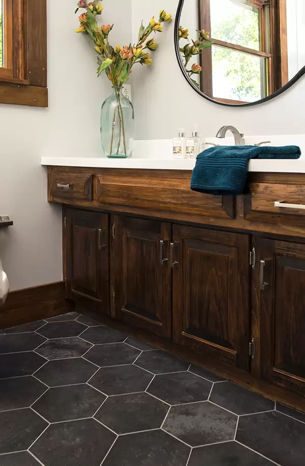 installing groutable vinyl tile  an easy diy  groutable