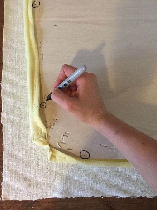 How to Reupholster Dining Chairs with Fabric and Vinyl ...