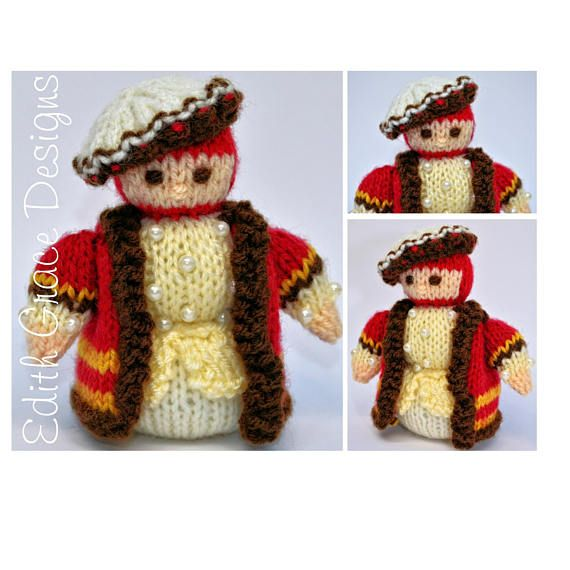 Miniature King Henry Viii Toy Knitting Pattern Doll Knitting