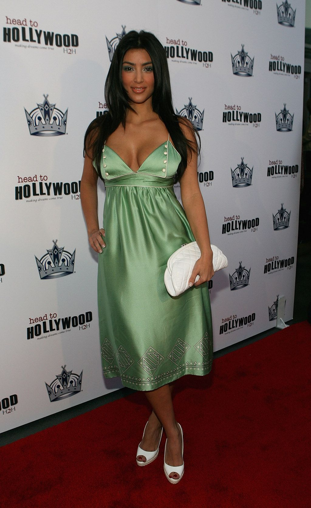 There Was A Time When Kim Loved Nothing More Than Mint Green Satin