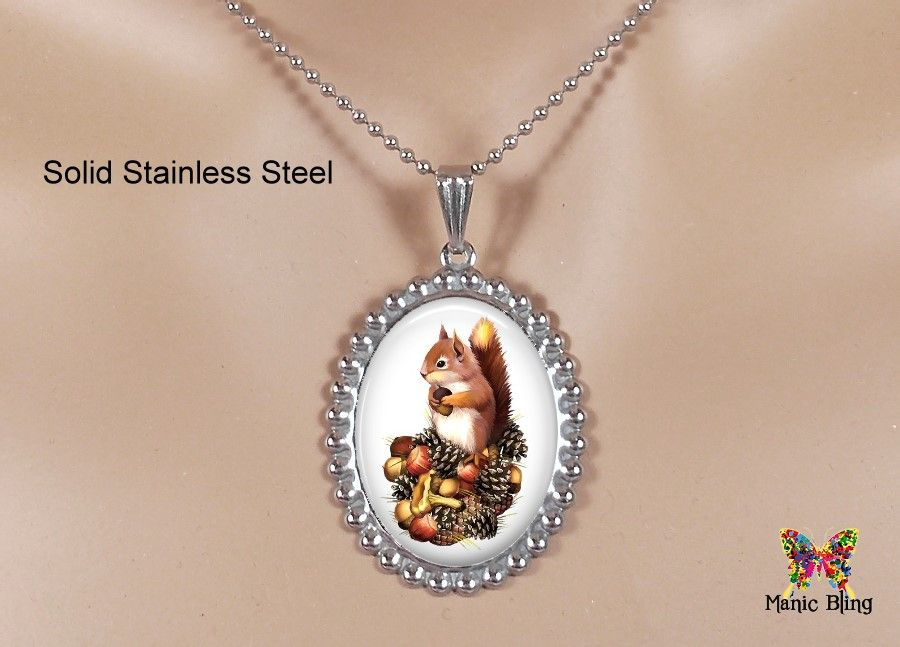 Fall squirrel pendant manic bling jewelry pinterest fall squirrel pendant aloadofball Image collections
