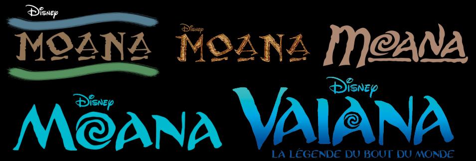 Evolution Du Logo De VAIANA MOANA