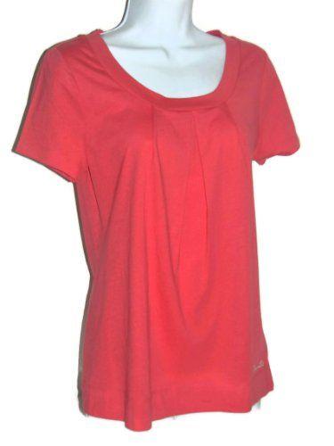 Nautica Sleepwear Women`s Pleated Scoop Neck Cotton Short Sleeve Sleep T $19.99