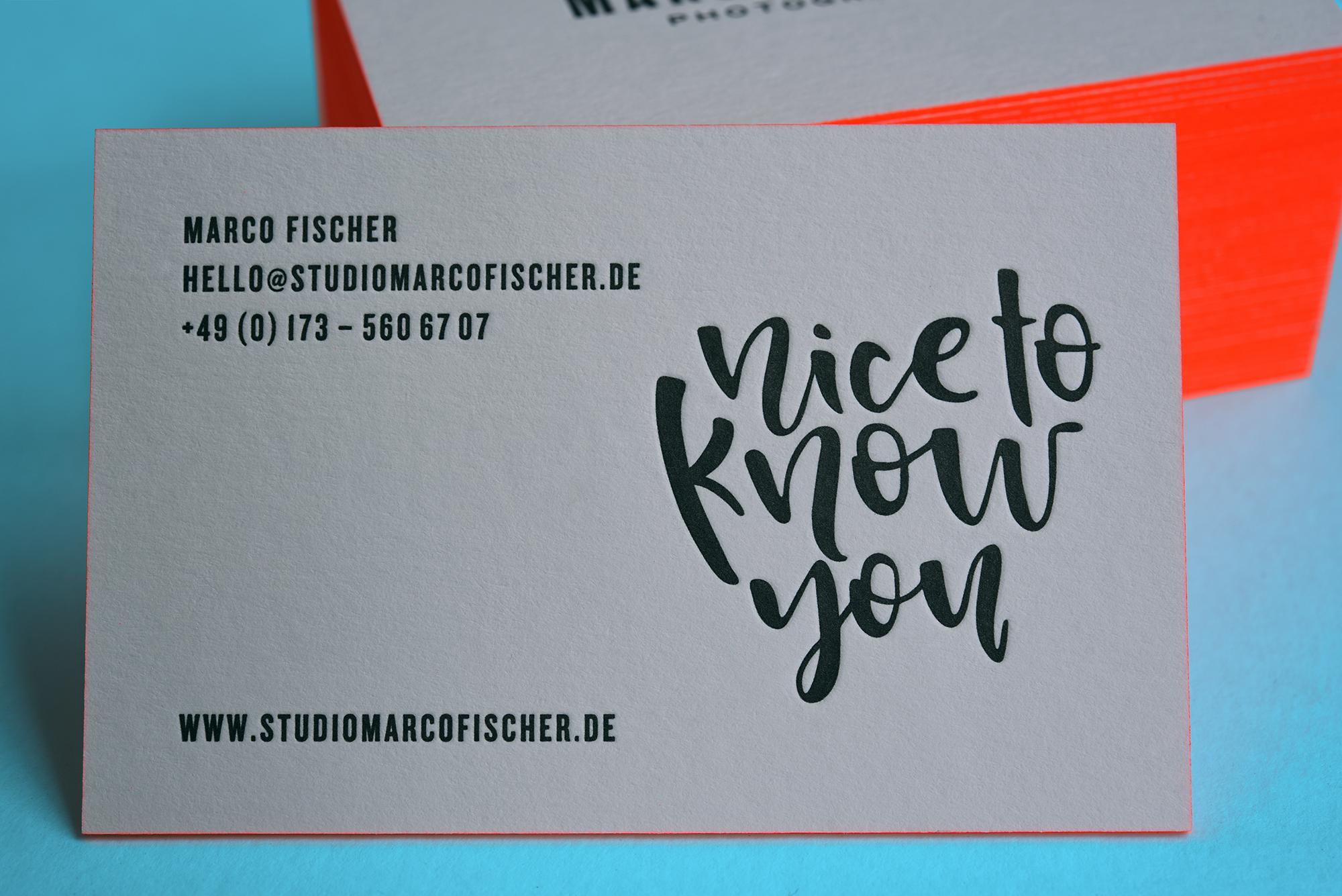 Letterpressoprintakzente Setzen Mit Neon Farbschnitt