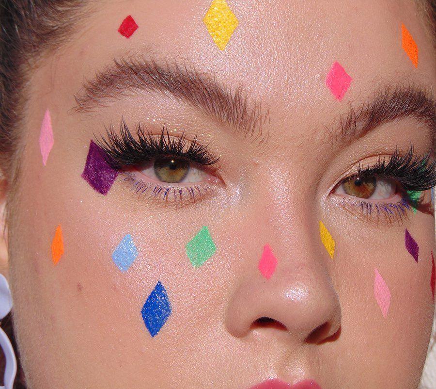 "Lou on Instagram: ""Just diamonds ♦️ #makeup #makeupartist #editorial #editorialmakeup #avantgardemak"