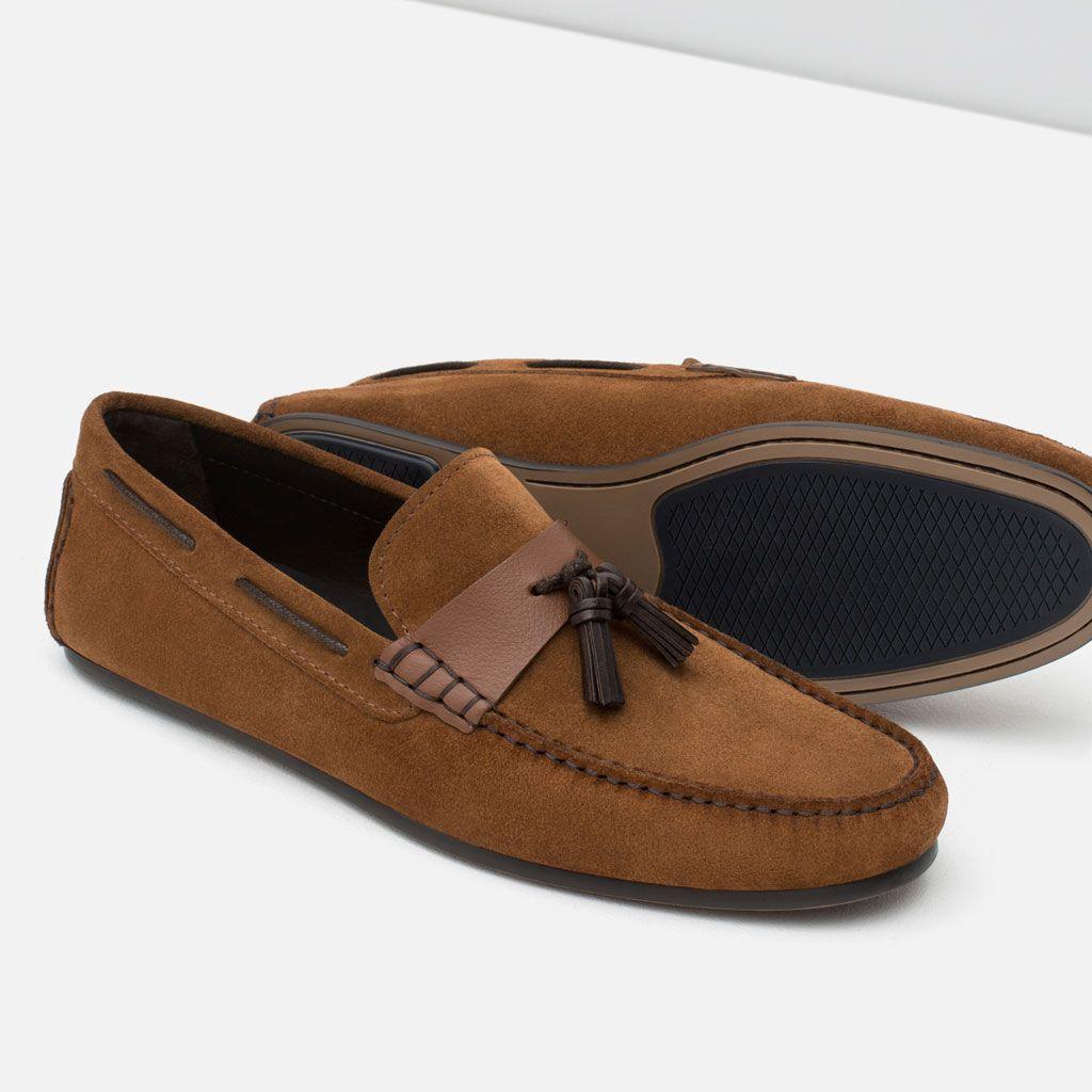 6600ac8e4a587 MOCASÍN PIEL DETALLE BORLAS-Zapatos-HOMBRE