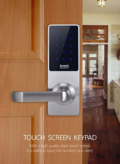 Avent Security D300 Digital Password Door Lock With Touch Srceen Keypad Digital Door Lock Smart Door Locks Door Locks
