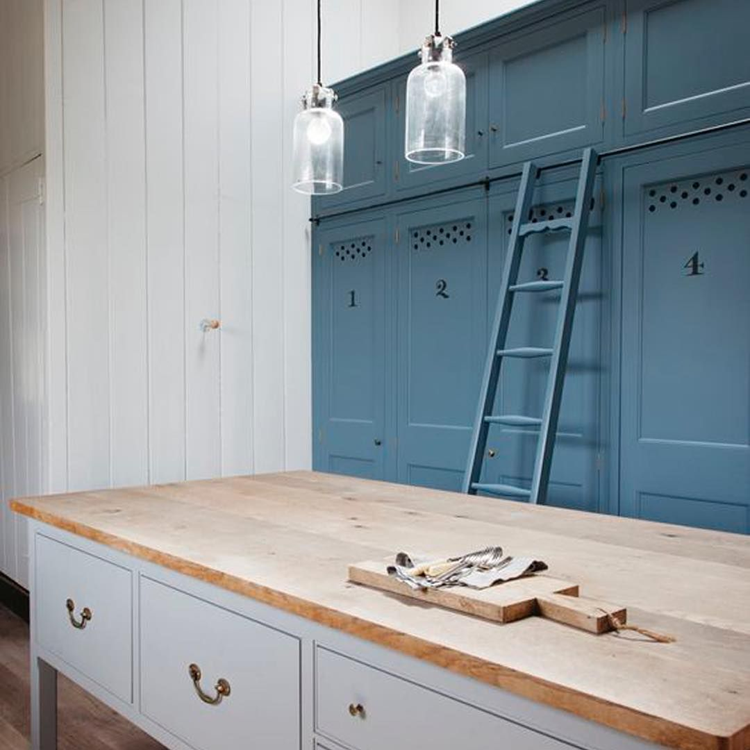 Hand painted, sign written cupboards in an eighteenth century Dorset farmhouse. #traditionalists