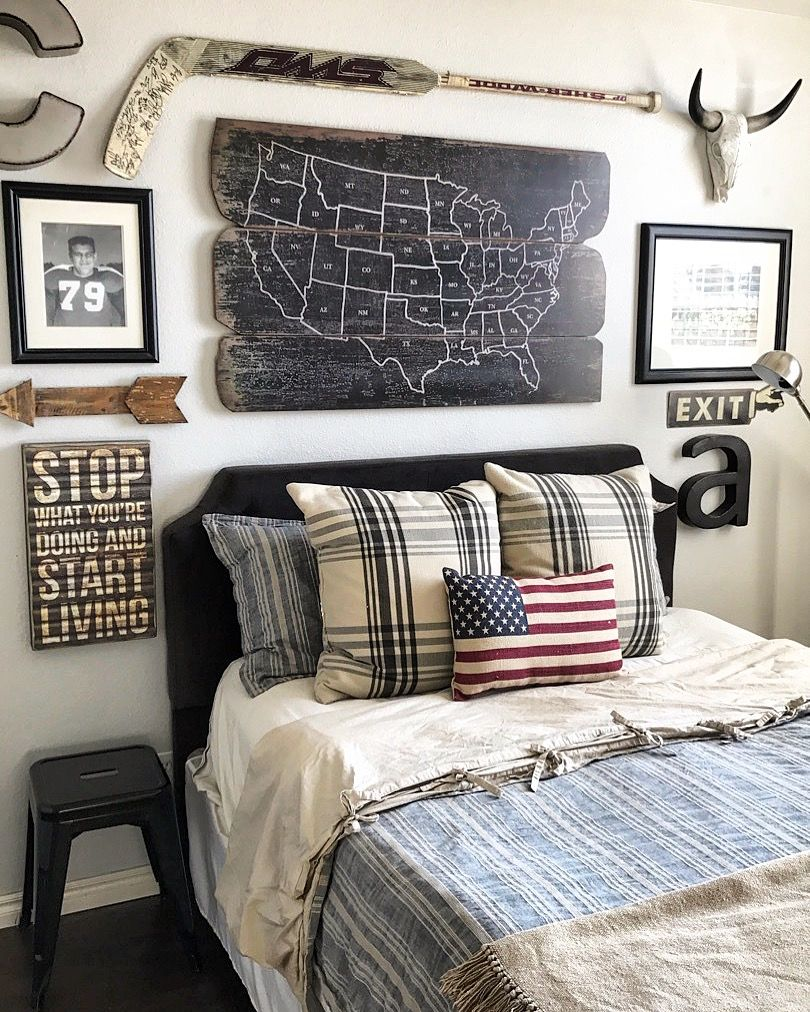 Modern Industrial Boy S Room Rustic Boys Bedrooms Boys Bedroom