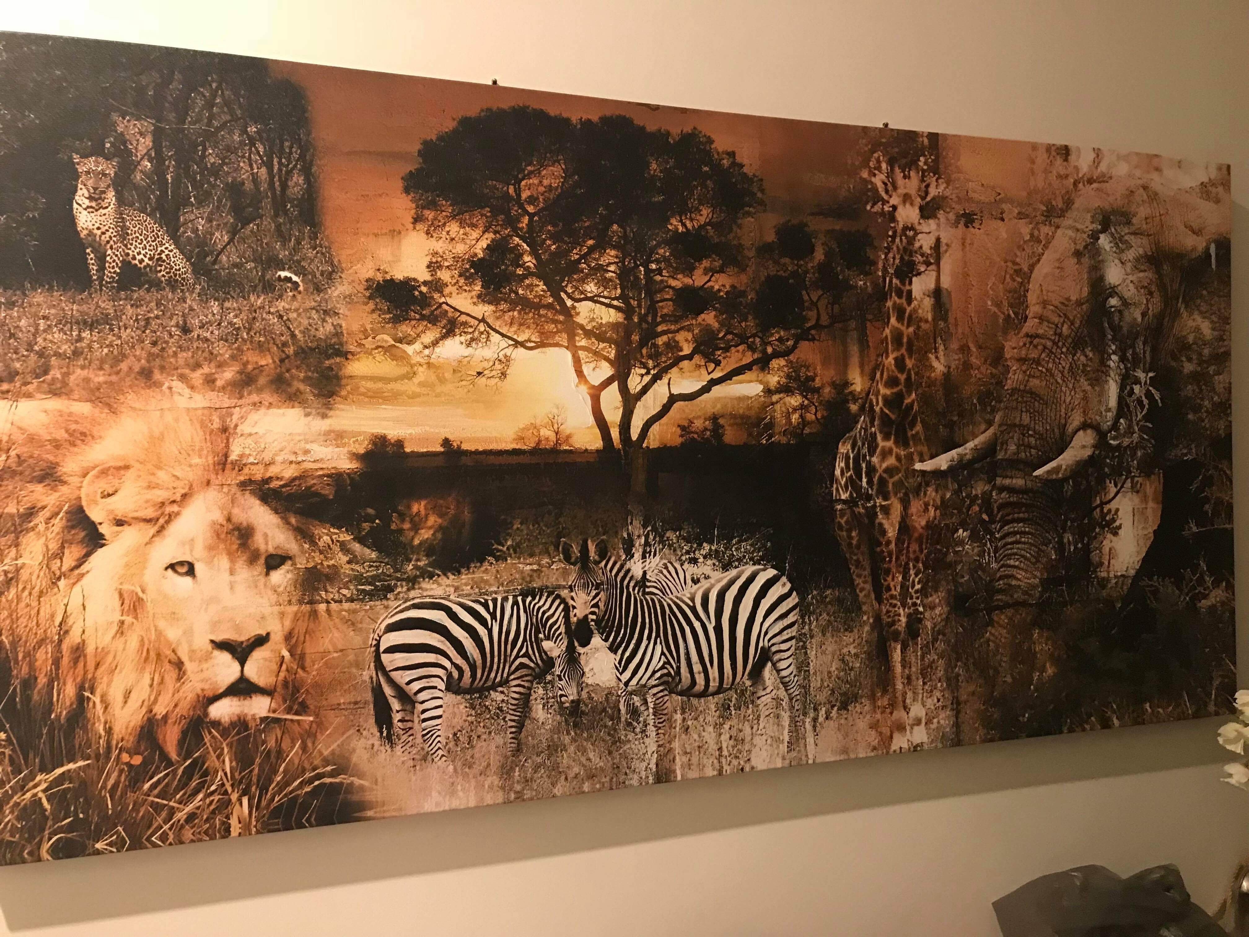 Where Do I Get This African Safari Canvas Print Wall Art Just Love It Disenos De Unas