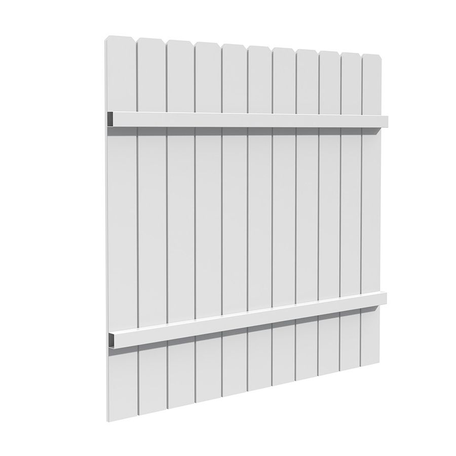 Freedom white vinyl privacy fence panel common 6 ft x 6 ft freedom white vinyl privacy fence panel common 6 ft x 6 ft baanklon Image collections