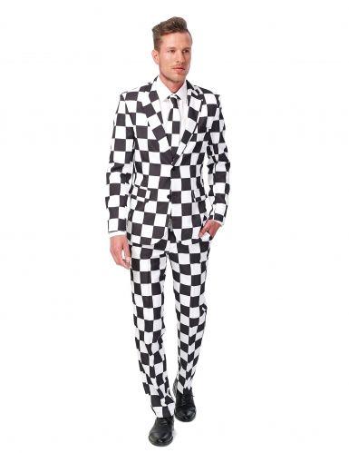 Abito classico bianco e nero per uomo - Suitmeister™  a Carnevale o per una  serata a tema Black and white questo travestimento a scacchi bianco e nero  di ... 1dafd1b3863