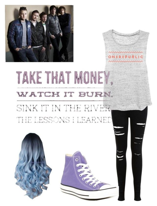 """""""ONEREPUBLIC!!!!!!!! :p"""" by missd-turtle ❤ liked on Polyvore featuring Miss Selfridge and Converse"""