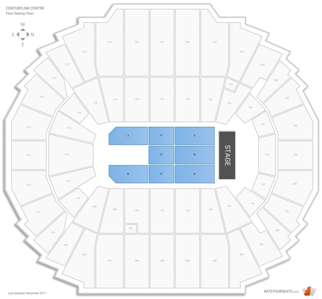 Chi Health Center Omaha Concert Seating Guide Rateyourseats With Regard To Centurylink Seating Chart With Rows Centurylinkcenterseat Seating Charts The Row Buy Tickets Online