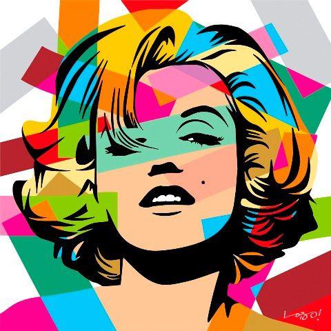 #Marilyn Monroe - #PopArt - lobopopart.com.br #lobopopart