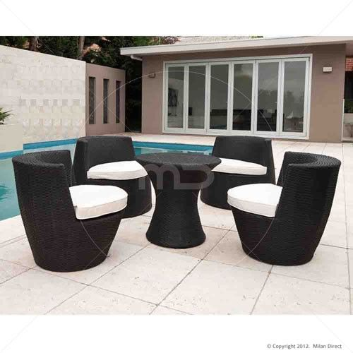 stacking tower 5pc set black buy wicker outdoor furniture rh pinterest com White Wicker Furniture Discount Outdoor Wicker Furniture