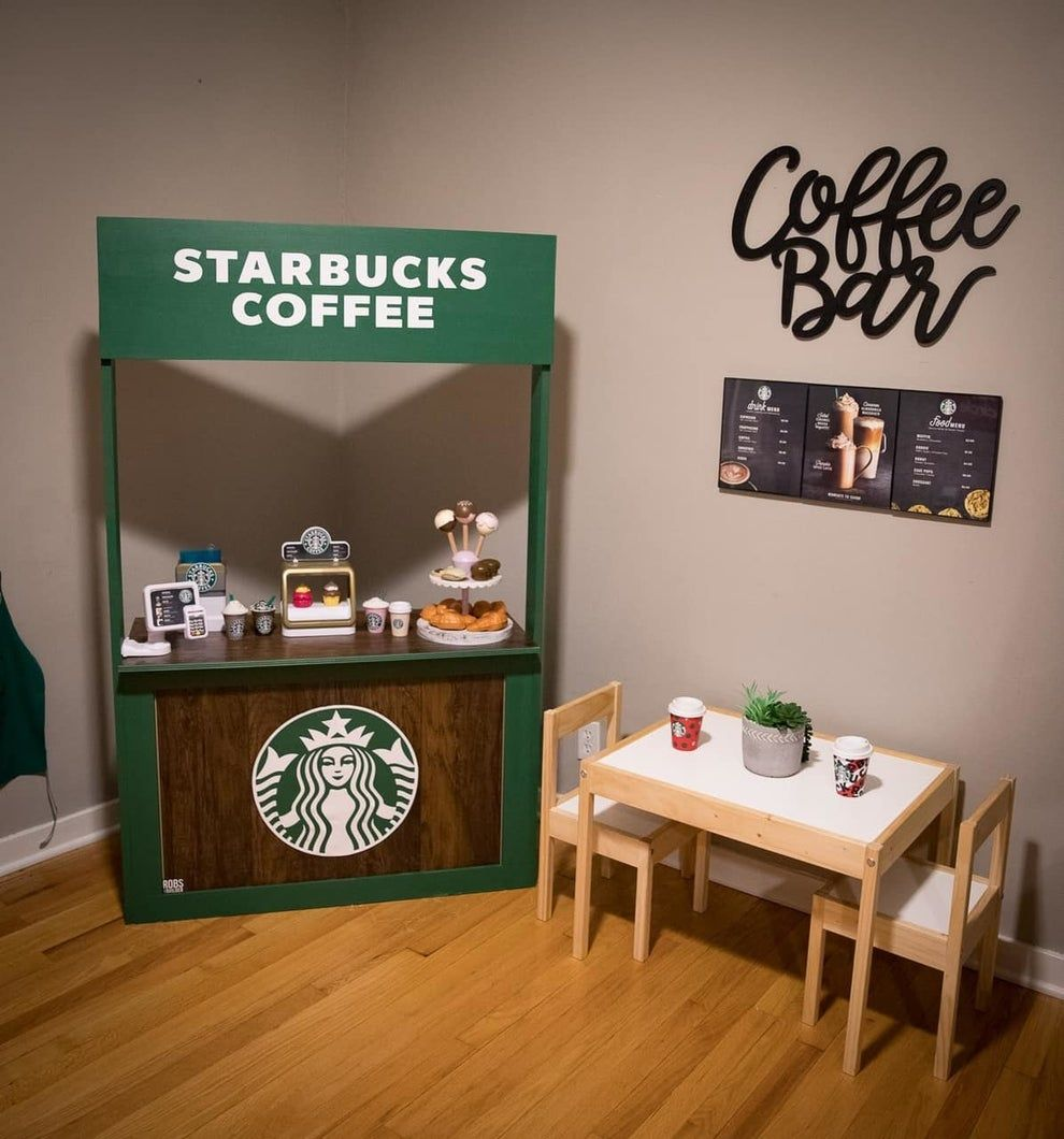 Renée also didn't forget what's arguably the most crucial thing for fellow parental shoppers: The Starbucks INSIDE Target. This Mom Built Her Kid A Target & Starbucks Playroom (And It's Amazing)