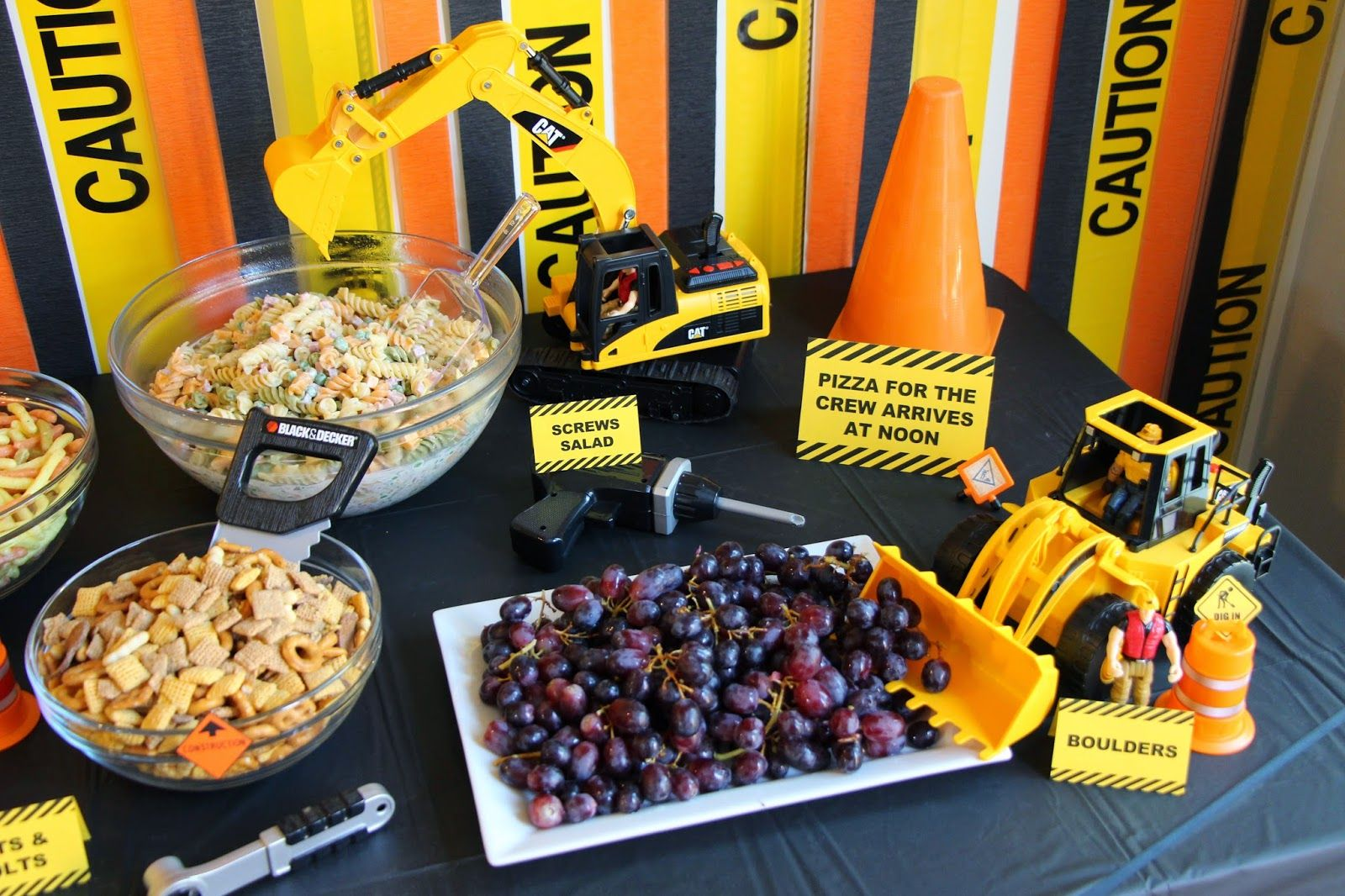 construction themed birthday party decorations