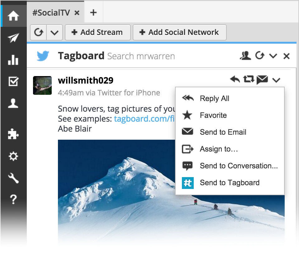 Tagboard & Hootsuite have integrated together for #SocialTV