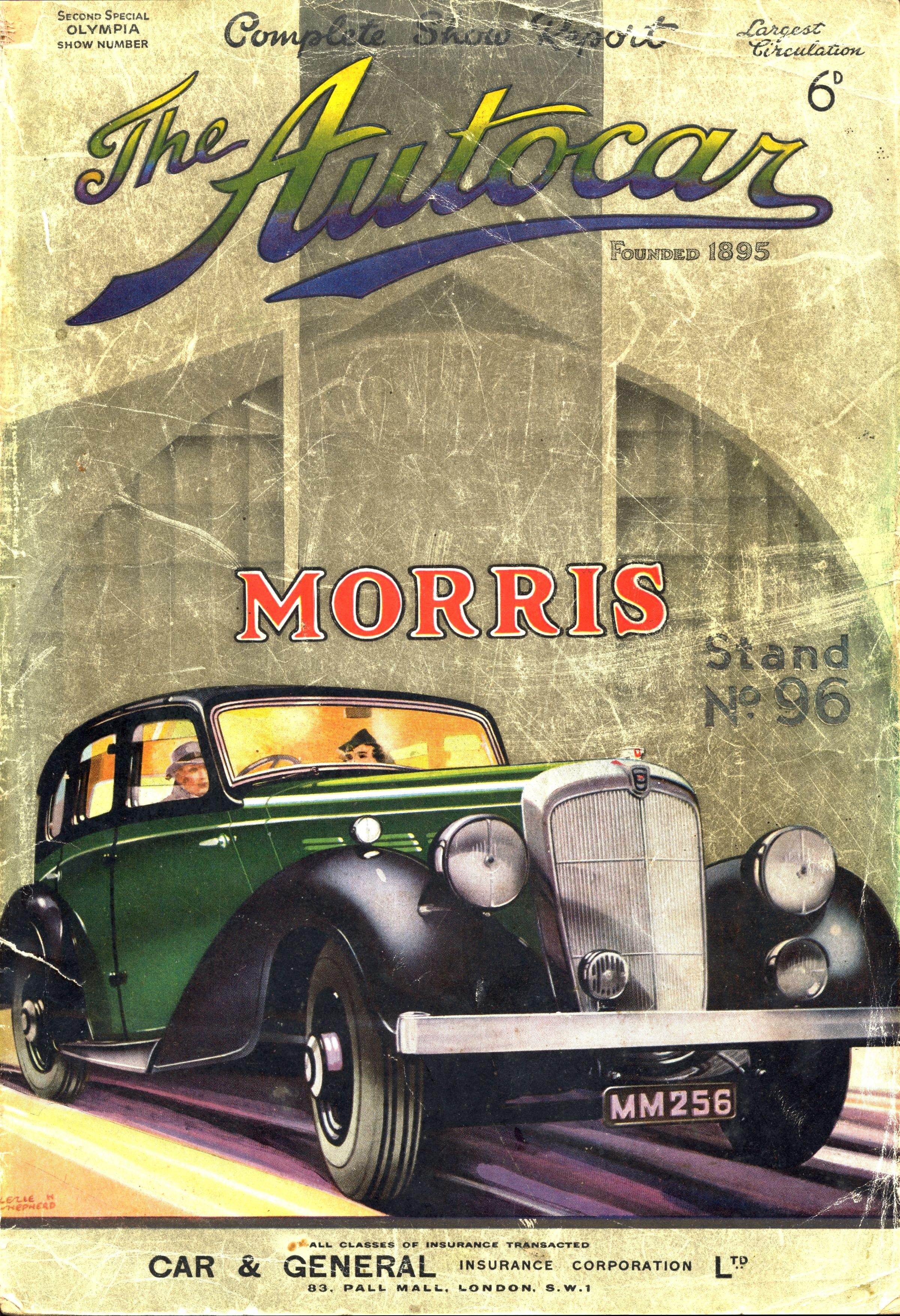 Autocar Magazine Cover Morris 25/6   automobiles-illustration ...