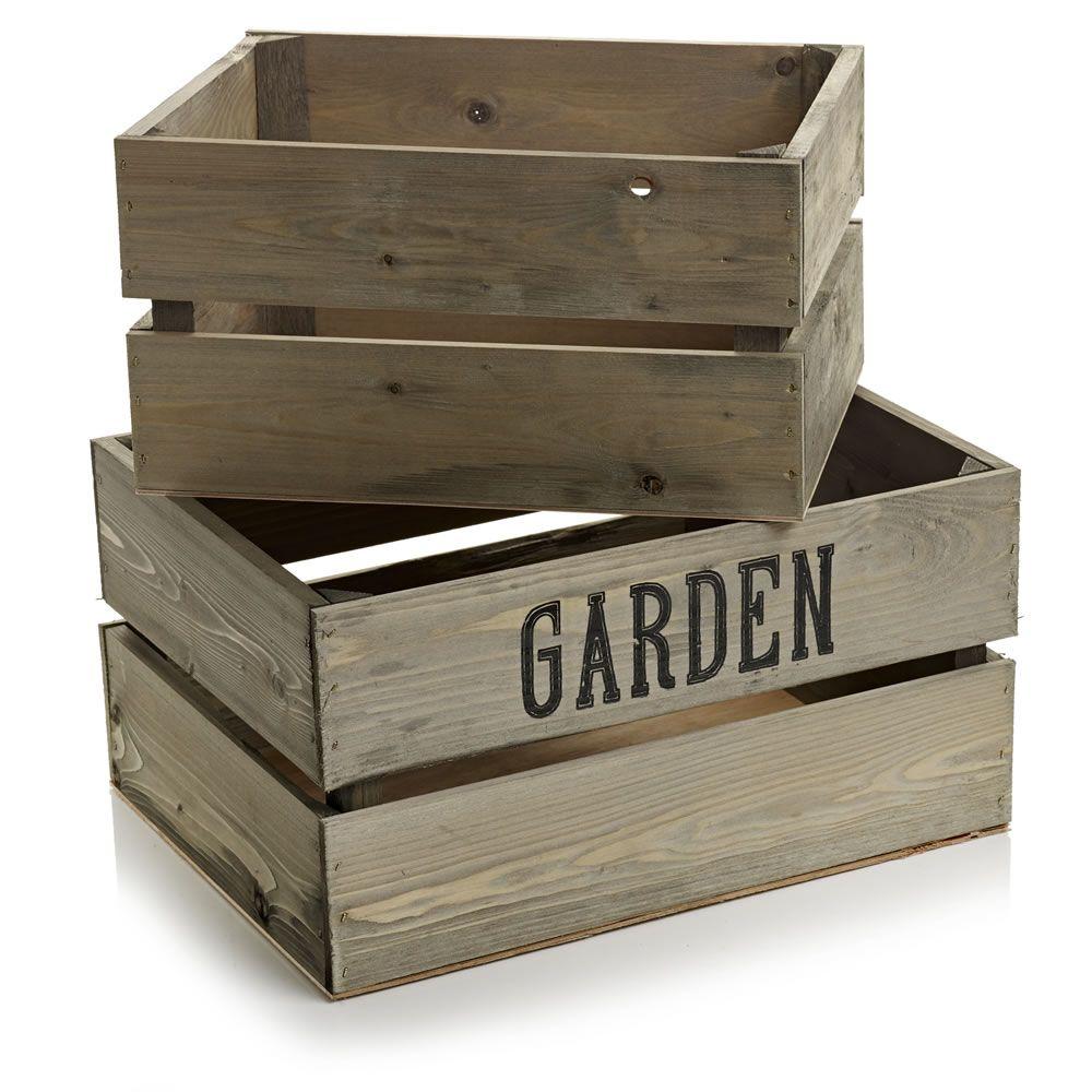 Wilko Decorative Wooden Crates 2Pcs | Moodboard - Home | Pinterest