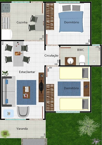 casas modernas y chicas