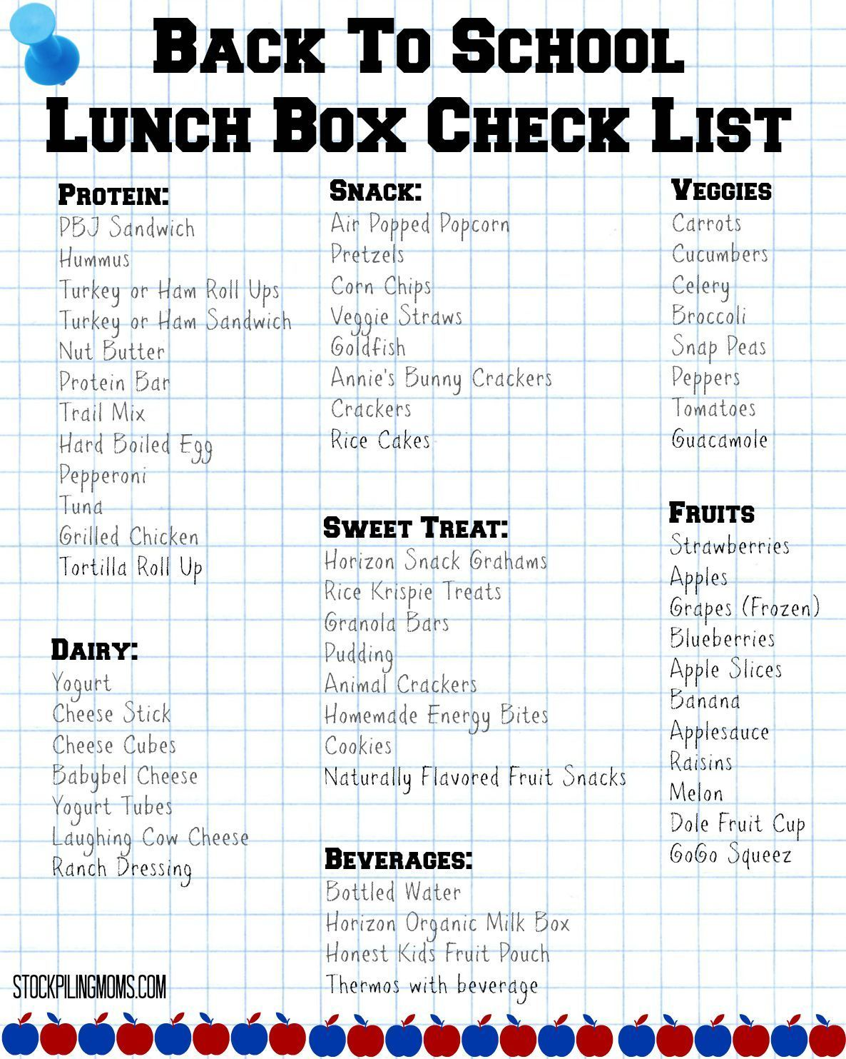 PB&J Sandwich Stressing out about packing school lunches? We have a Back To School Lunch Box Check List printable for you!Stressing out about packing school lunches? We have a Back To School Lunch Box Check List printable for you!