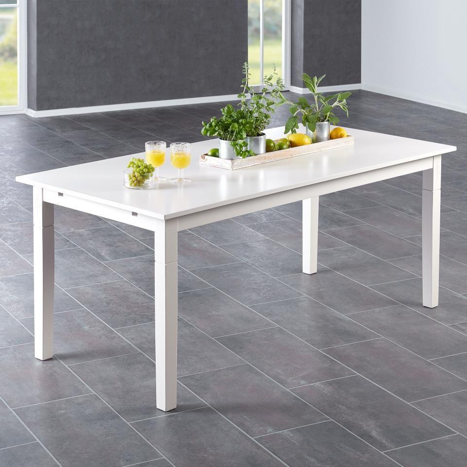 Esstisch Lakolk (90x180, weiß, erweiterbar) Esstisch