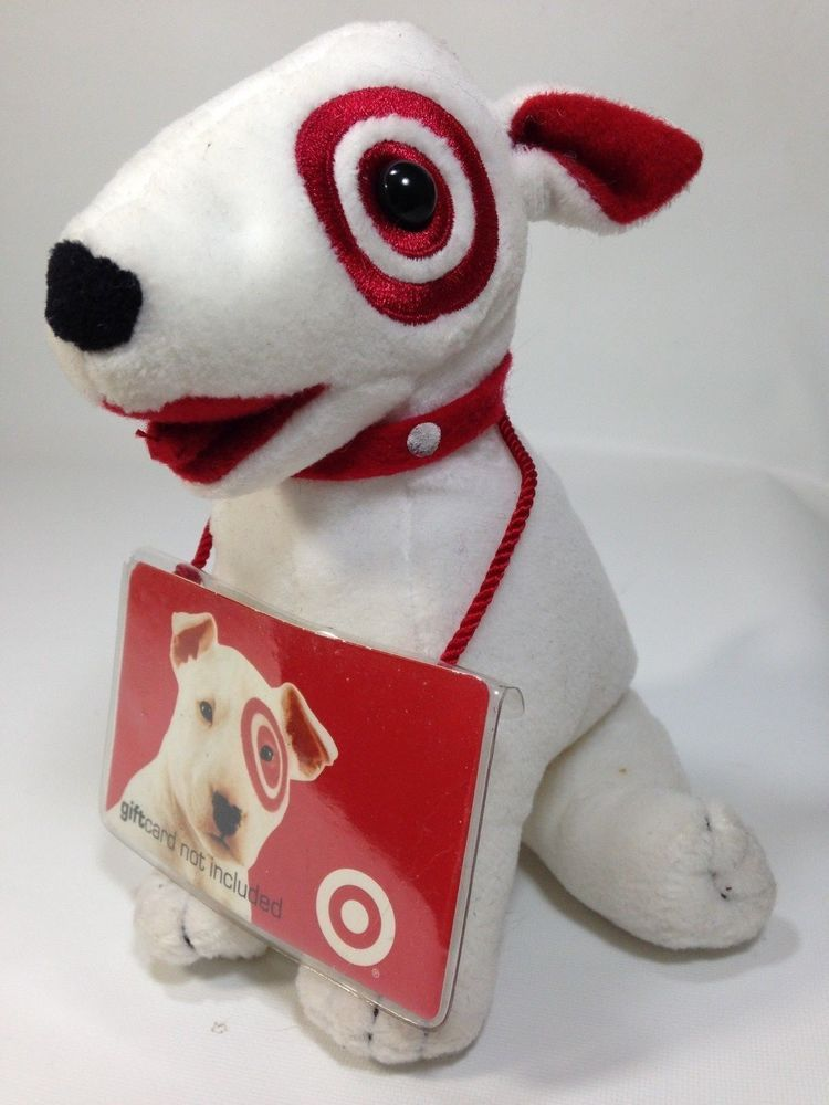 Target Dog Bullseye Bull Terrier Puppy Plush Beanie Red White Mascot Spot Commonwealth