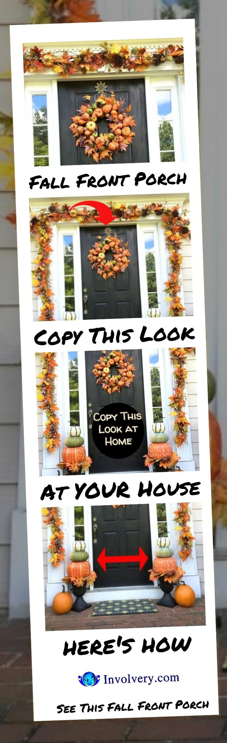 COPY THIS LOOK - DIY Fall Front Porch Decorating Idea