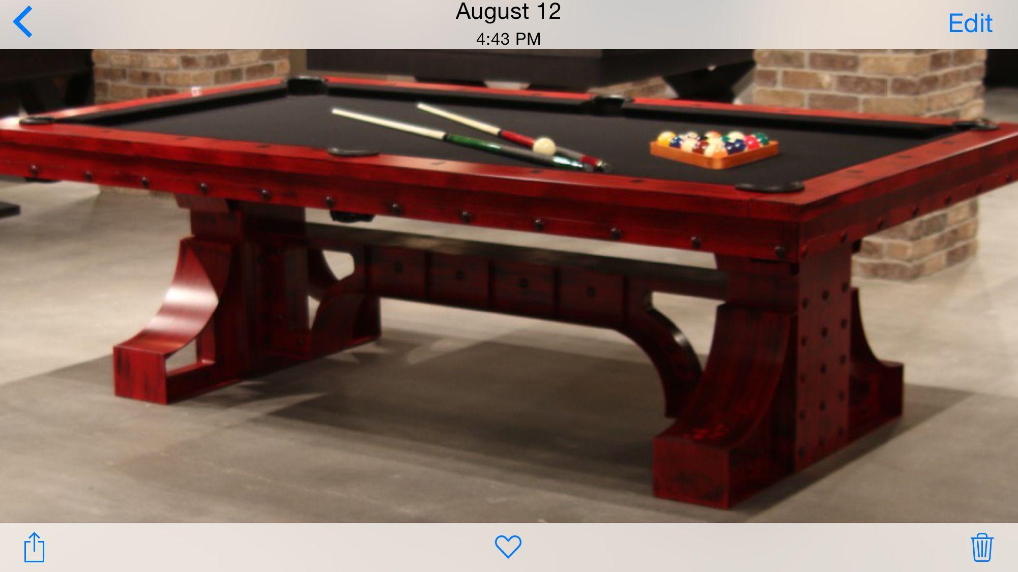 Rex Plank And Hide Pool Table Made In Cincinnati Ohio Hidden Pool Pool Table Table